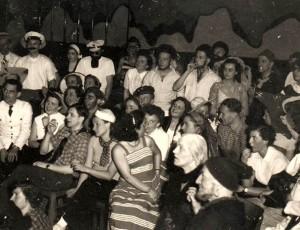 Blick in die Zuschauer: vorn Prof. Bohnenkamp und Gattin, ganz links in weißer Jacke: Willi Dettmering