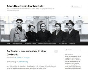 Screenshot des Blogs