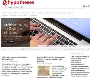Blogportal de.hypotheses.org
